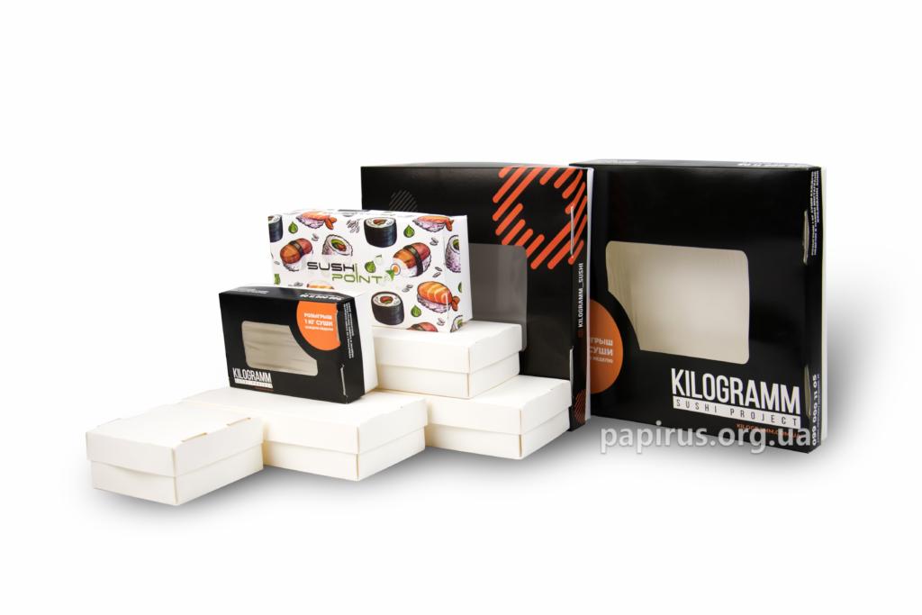 Печатный дом Папирус, г. Сумы, Коробка для суши